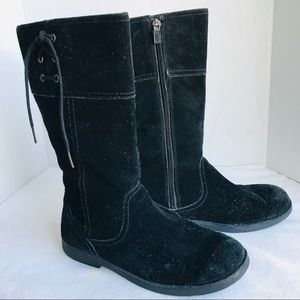 UGG genuine leather suede black tall boots